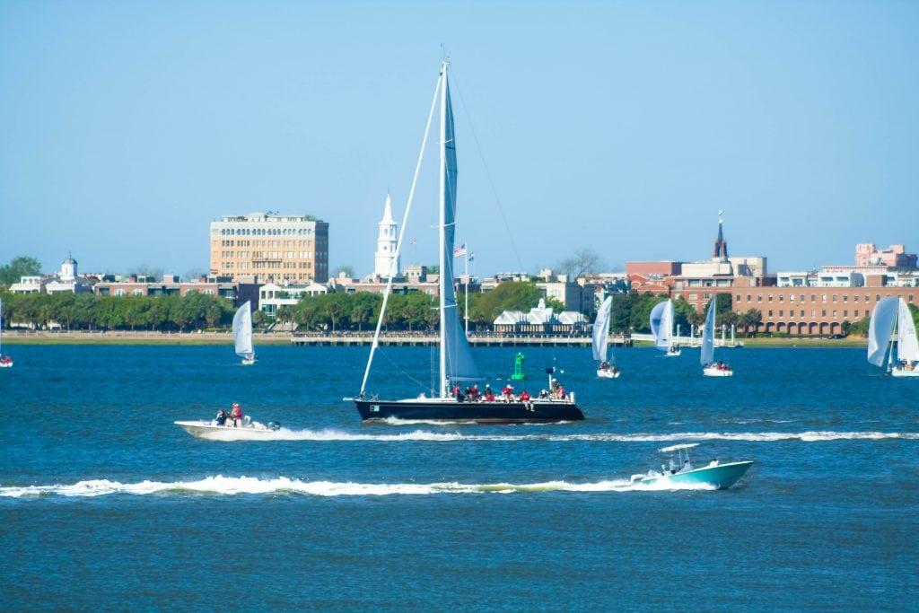 Boats on Charleston Harbor